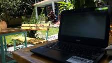 Blog schreiben im Garten :)