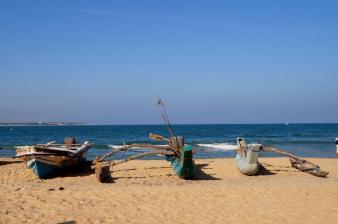 Fischerboote, Arugam Bay.