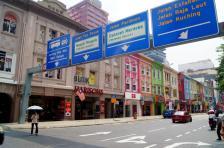 Schilder und Straßenmarkierungen...